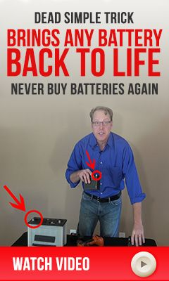 Recondition old batteries for use in a solar battery bank